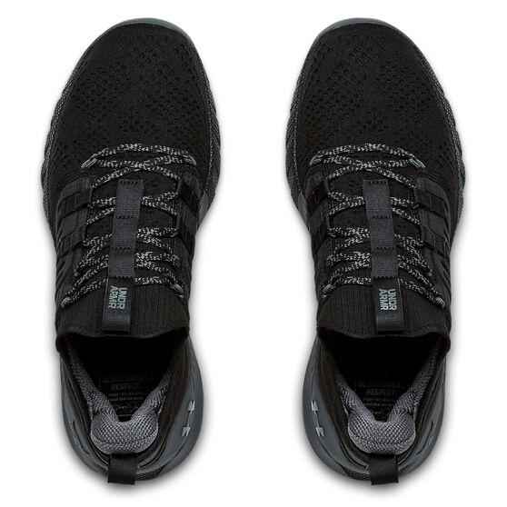 Under Armour Project Rock 3 Mens Training Shoes, Black/Grey, rebel_hi-res