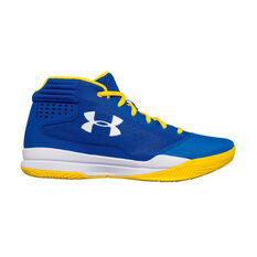 Under Armour Jet 2017 Boys Basketball Shoes Blue / White US 4, Blue / White, rebel_hi-res