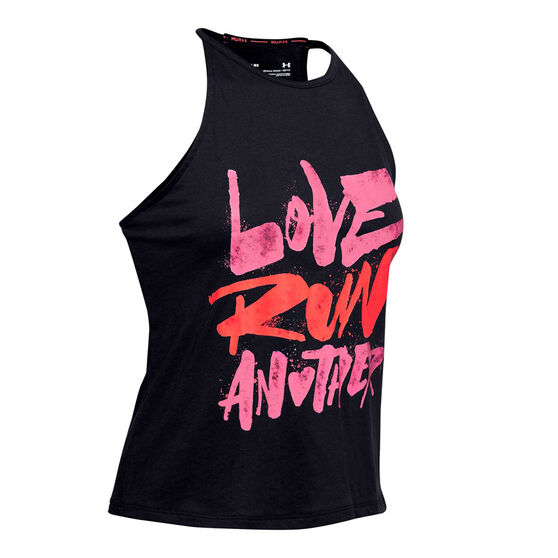 Under Armour Womens Love Run Another Tank, Black, rebel_hi-res