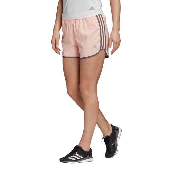 adidas Womens Marathon 20 Running Shorts, Coral, rebel_hi-res