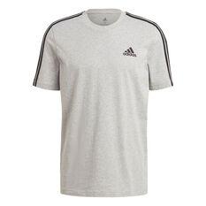 adidas Mens Essentials 3-Stripes Tee Grey S, Grey, rebel_hi-res
