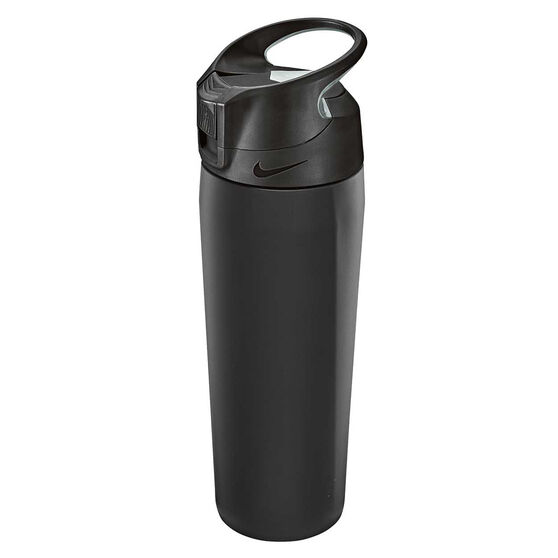 Nike Hypercharge Stainless Steel 473ml Water Bottle Black, Black, rebel_hi-res