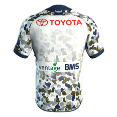 North Queensland Cowboys 2020 Mens Defence Jersey White S, White, rebel_hi-res