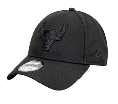 Chicago Bulls New Era Black on Black 9FORTY Snapback, , rebel_hi-res