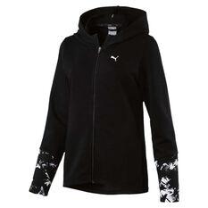 Puma Womens Energized Full Zip Hoodie Black XS, Black, rebel_hi-res