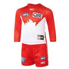 Sydney Swans 2019 Infants Home Guernsey Red / White 1, Red / White, rebel_hi-res