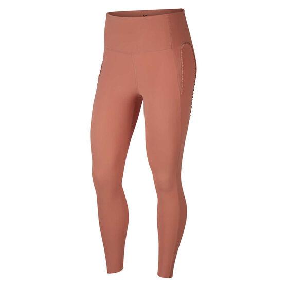 Nike Womens Yoga Infinalon 7/8 Tights Pink S, Pink, rebel_hi-res