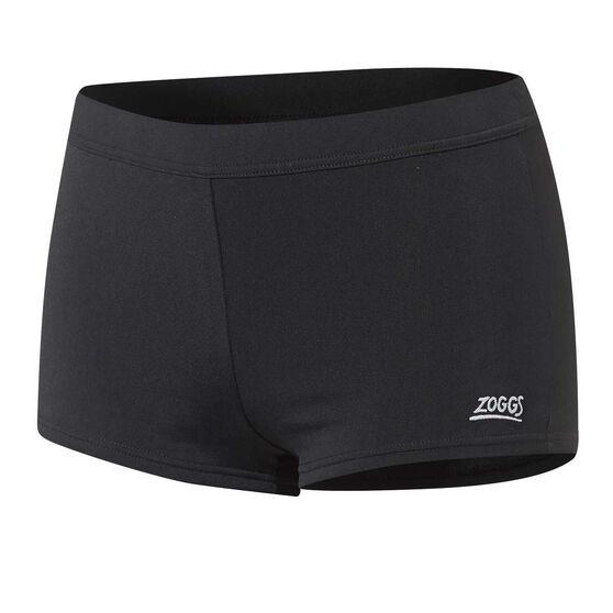 Zoggs Womens Harlems Boyleg Swim Shorts Black 18, Black, rebel_hi-res