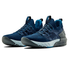 Under Armour Project Rock 3 Mens Training Shoes, Navy/Grey, rebel_hi-res