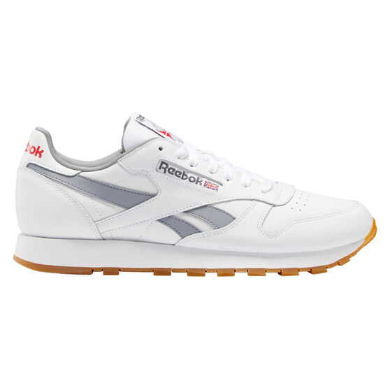 Reebok Classic Leather Casual Shoes, White/Grey, rebel_hi-res