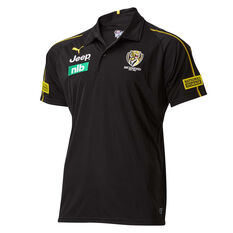 Richmond Tigers 2019 Mens Team Polo Black / Yellow S, , rebel_hi-res