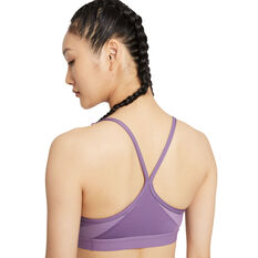 Nike Womens Dri-FIT Indy V Neck Sports Bra, Purple, rebel_hi-res