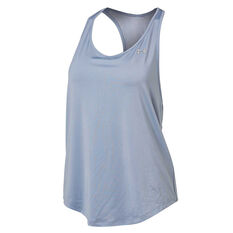 Under Armour Womens Mesh Back Tank Blue XS, Blue, rebel_hi-res