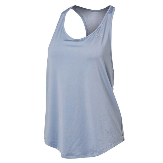 Under Armour Womens Mesh Back Tank Blue XL, Blue, rebel_hi-res