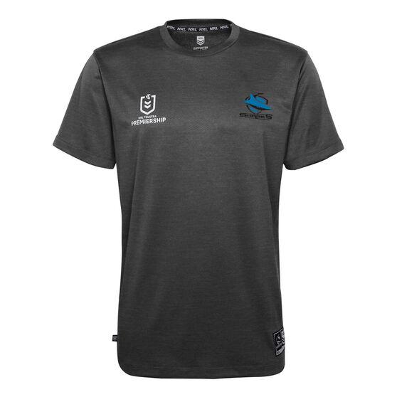Cronulla-Sutherland Sharks 2021 Mens Performance Polo, Black, rebel_hi-res