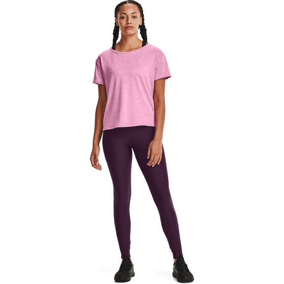 Under Armour Womens Tech Vent Tee, Pink, rebel_hi-res