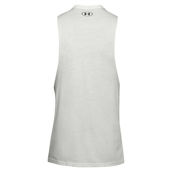 Under Armour Project Rock Sweat Equity Tank, White, rebel_hi-res