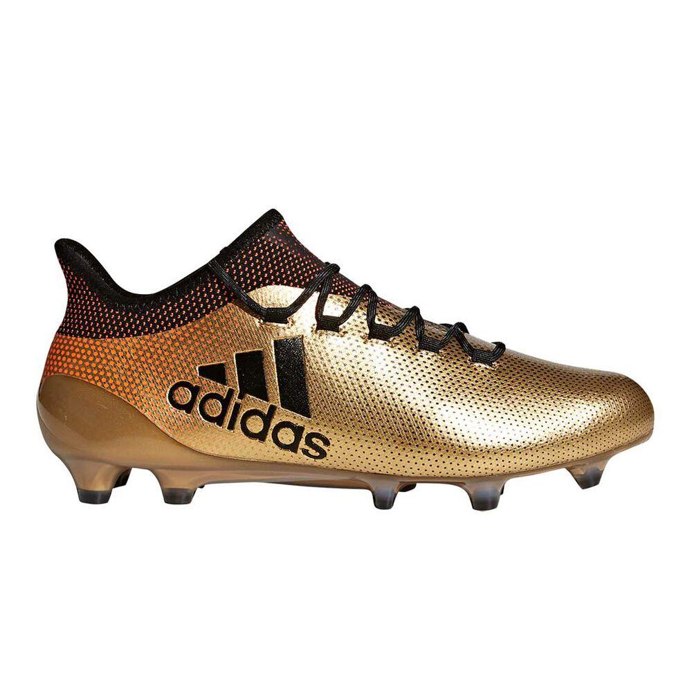 adidas X 17.1 Mens Football Boots Gold   Black US 7 Adult  bc2af4db3260