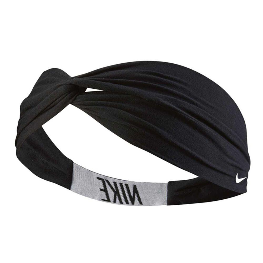 Nike Womens Logo Twist Headband Black   White OSFA  ece8e366ed5