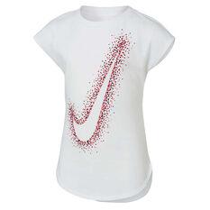 Nike Girls Swoosh Dot Burst Tee Pink 4, Pink, rebel_hi-res