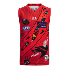 Essendon Bombers Kids 2021 Indigenous Guernsey Red S, Red, rebel_hi-res