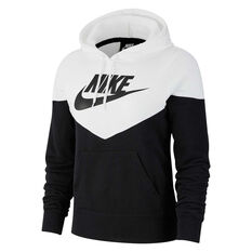 Nike Womens Sportswear Heritage Hoodie Black XS, Black, rebel_hi-res