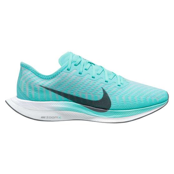 Nike Zoom Pegasus Turbo 2 Womens Running Shoes, Green/Grey, rebel_hi-res