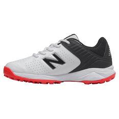 New Balance CK4020 Kids Rubber Cricket Shoes White/Black US 3, White/Black, rebel_hi-res