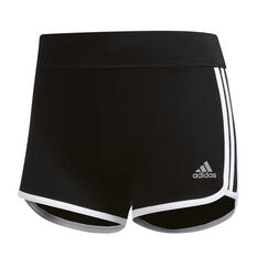 adidas Womens M10 Booty Shorts Black XS, Black, rebel_hi-res