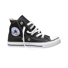Converse Chuck Taylor All Star Core High Top Junior Casual Shoes Black / White US 11, Black / White, rebel_hi-res