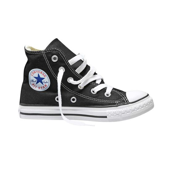 Converse Chuck Taylor All Star Core High Top Junior Casual Shoes, Black / White, rebel_hi-res