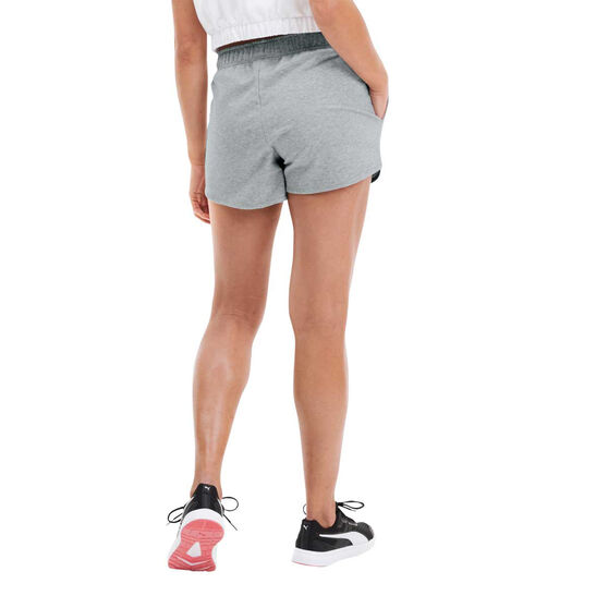 Puma Womens Knitted Shorts, Grey, rebel_hi-res
