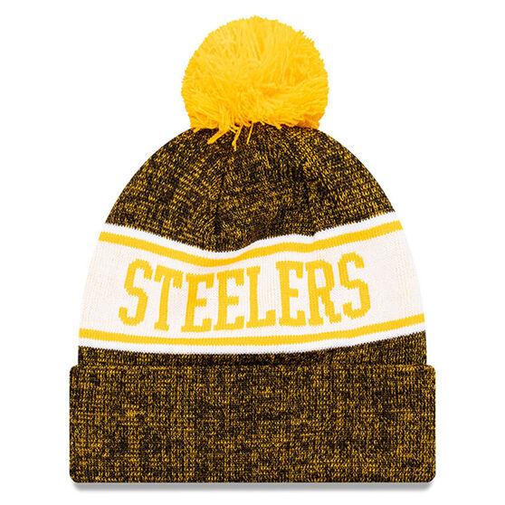 Pittsburgh Steelers New Era Pom Knit Beanie, , rebel_hi-res
