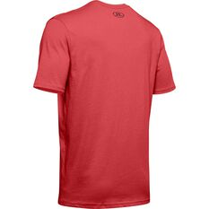 Under Armour Mens Sportstyle Left Chest Short Sleeve Tee Red XS, Red, rebel_hi-res