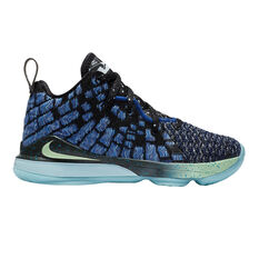 Nike LeBron XVII Kids Basketball Shoes Blue US 11, Blue, rebel_hi-res