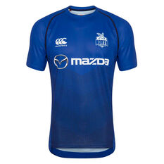 North Melbourne Kangaroos 2020 Mens Training Tee, Blue, rebel_hi-res