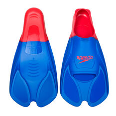 Speedo Biofuse Swim Training Fins Blue 3-4, Blue, rebel_hi-res