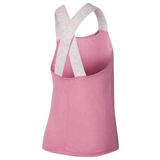 Nike Pro Womens Tank, Pink, rebel_hi-res