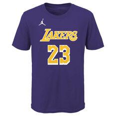 Jordan Los Angles Lakers LeBron James 2020/21 Kids Statement Tee, , rebel_hi-res