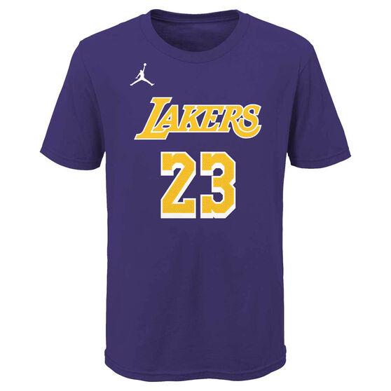 Jordan Los Angles Lakers LeBron James 2020/21 Kids Statement Tee S, , rebel_hi-res