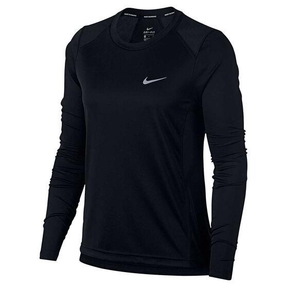 4e0c27a5 Nike Womens Miler Long Sleeve Top Black L