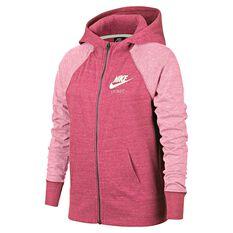Nike Girls Vintage Hoodie Pink S, Pink, rebel_hi-res