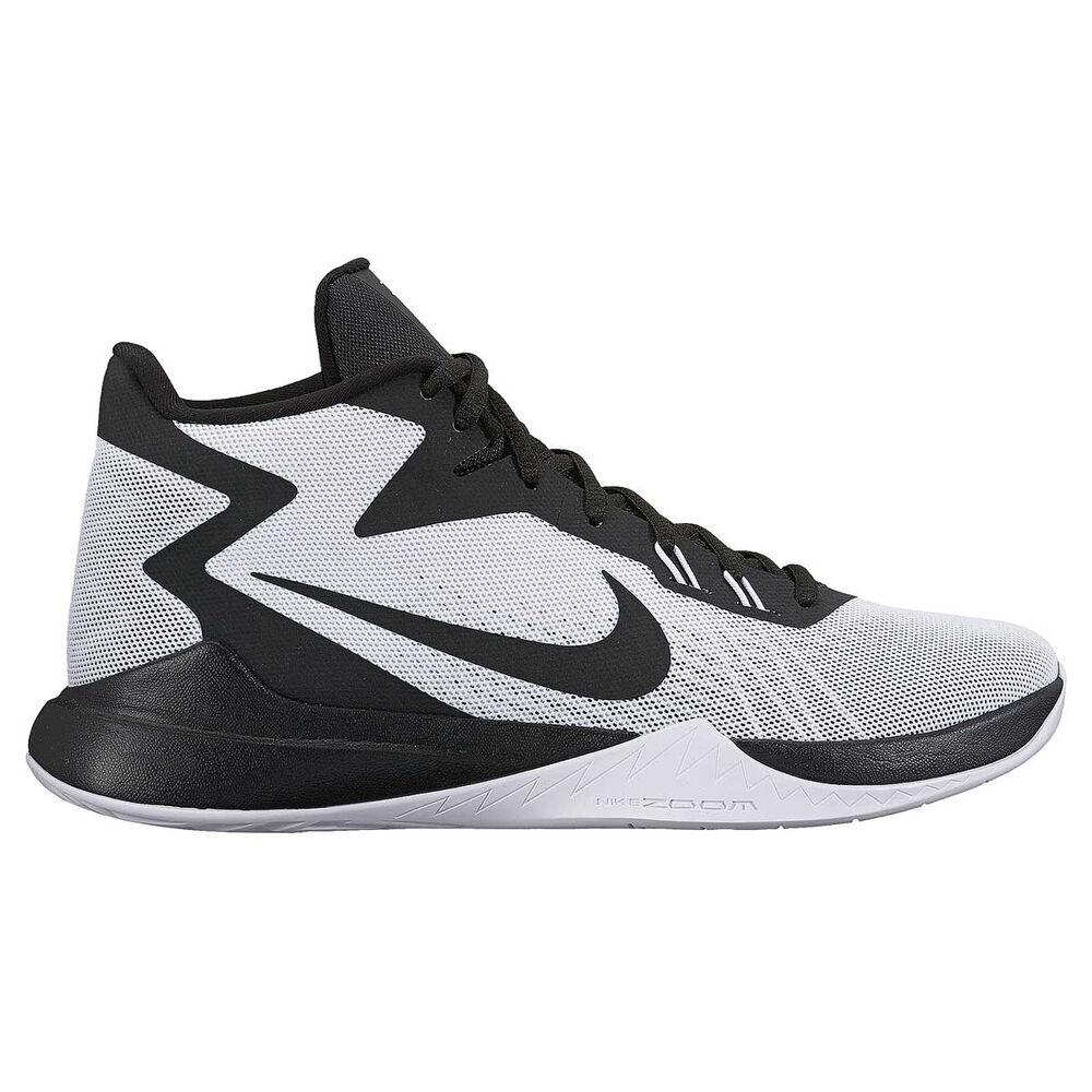 ddeee245367a Nike Zoom Evidence Mens Basketball Shoes White   Black US 10.5 ...