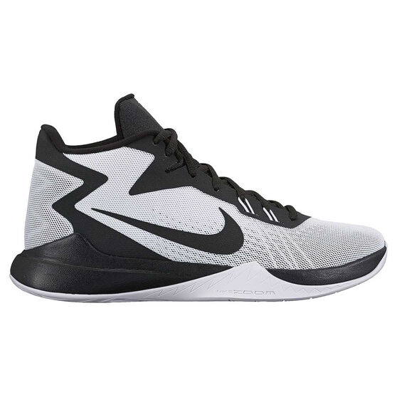 1a72386bdb3d Nike Zoom Evidence Mens Basketball Shoes White   Black US 13
