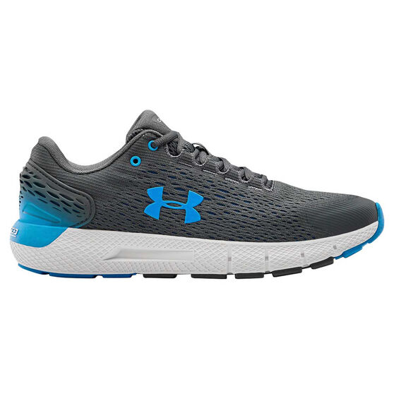 Under Armour Charged Rogue 2 Mens Running Shoes, Grey/White, rebel_hi-res