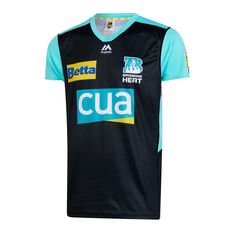 Brisbane Heat 2019/20 Mens Neon Nights BBL Jersey Black / Teal, Black / Teal, rebel_hi-res