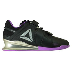 Reebok Legacy Lifter Womens Training Shoes Black / Purple US 6, Black / Purple, rebel_hi-res