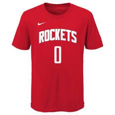 Nike Houston Rockets Russell Westbrook 2020/21 Kids Statement Tee, , rebel_hi-res
