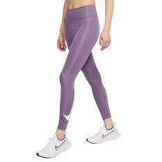 Nike Womens Swoosh Run 7/8 Tights Purple XS, Purple, rebel_hi-res
