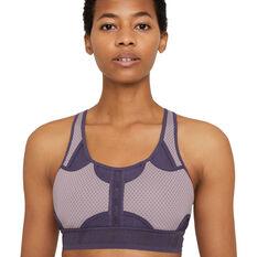 Nike Womens Swoosh UltraBreathe Medium Support Sports Bra, Purple, rebel_hi-res